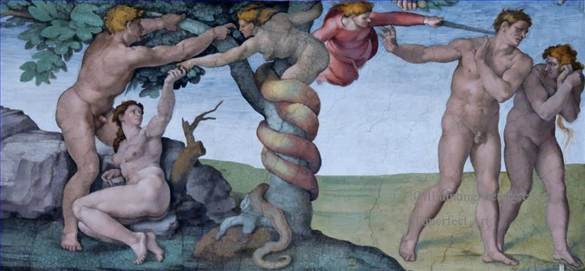 Michelangelo's Expulsion from the Garden, from the Sistine Chapel Ceiling, Vatican City
