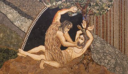Caino ed Abele  Santuario nazionale di San Giovanni Paolo II - chiesa del Redemptor Hominis  Washington - Stati Uniti