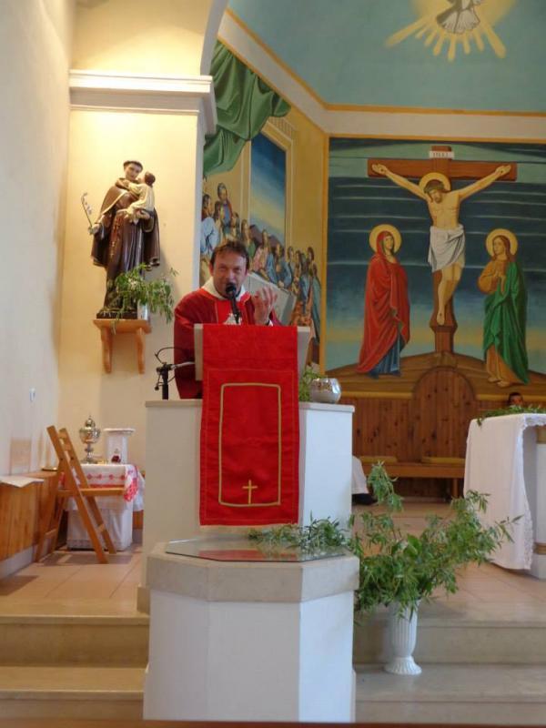 Проповед на отец Паоло за Тайната Вечеря, 2012 г.